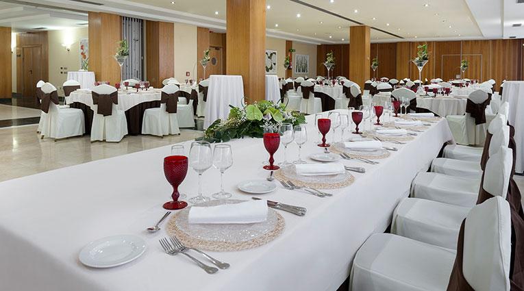 Mesa presidencial bodas Hotel Elba Vecindario
