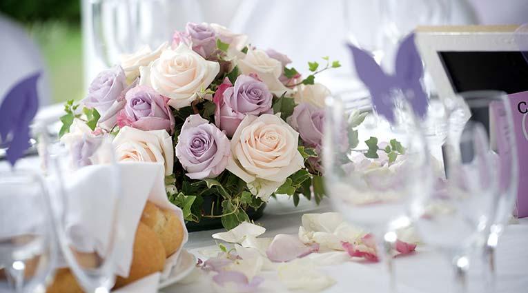 Detalle decoración flores