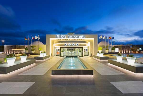 Fachada principal del hotel Elba Lanzarote