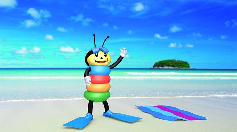 Pepe en la playa