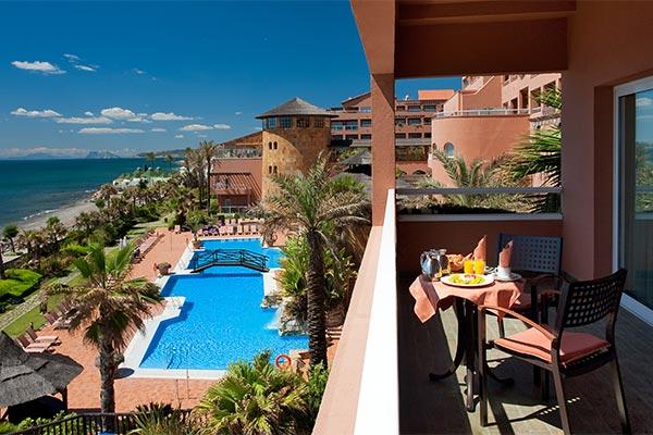 Vista desde la terraza del hotel Elba Estepona