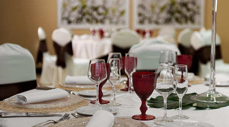 Arreglos mesa bodas Hotel Elba Vecindario