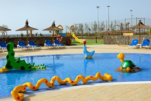 Vista de la piscina infantil