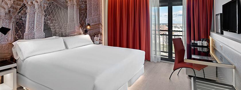 Habitación tripe Hotel Elba Madrid Alcalá