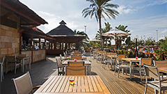 Vista terraza El Arrecife snack bar