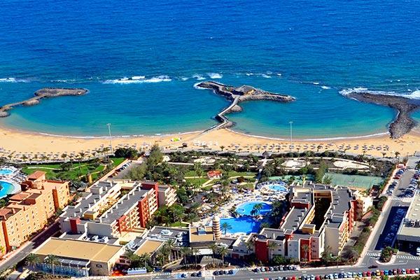 Vista aérea hotel Elba Carlota