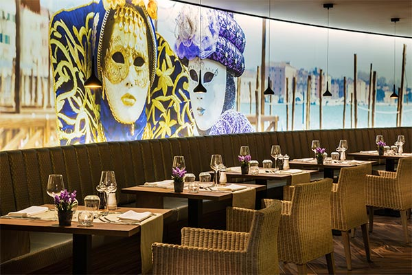 Detalle mesas restaurante italianos La Nonna