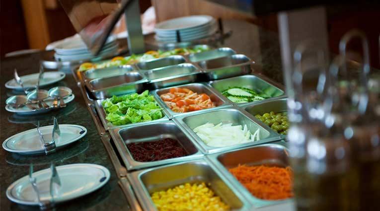 Verduras frescas buffet