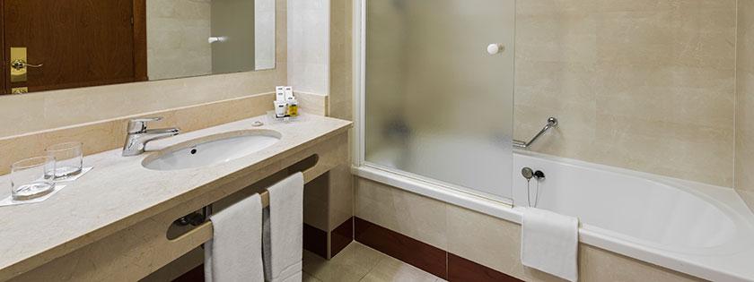 Baño Habitación Doble Elba Hotel Elba Madrid Alcalá