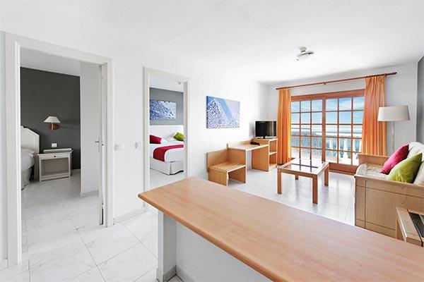 Vista del salón del apartamento