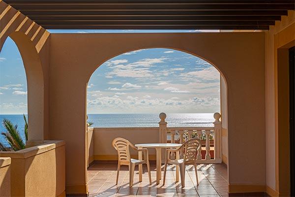 Vista océano Atlántico desde terraza