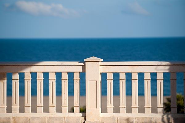 Vista al mar desde el Hotel Elba Motril