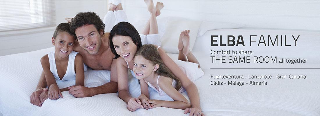 Hoteles Elba: Confort para compartir todos juntos la misma habitación.