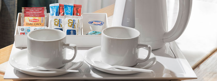 Facilidades para Café y Té en las habitaciones