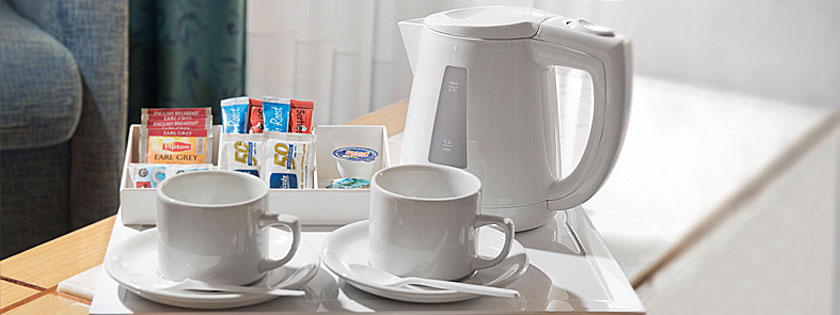 Servicio de café y té de cortesía