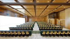 Vista general del salón centro de convenciones