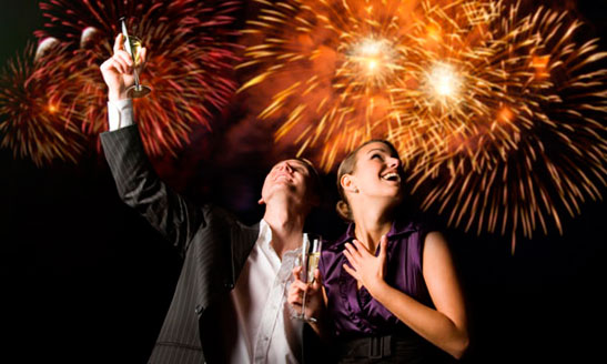 Celebrate the Christmas holidays with a New Year's Eve party