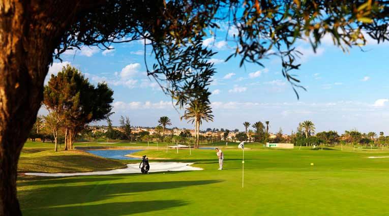 Vista del campo de golf de 18 hoyos
