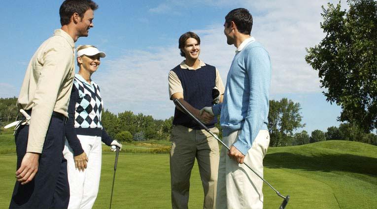 Grupo de Jugadores de golf profesionales