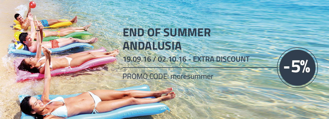 End of  summer special ofert Andalusia