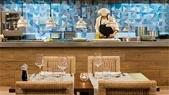 Restaurant französische Küche und frischen Fisch und Fleisch vom heissen Stein | Elba Premium