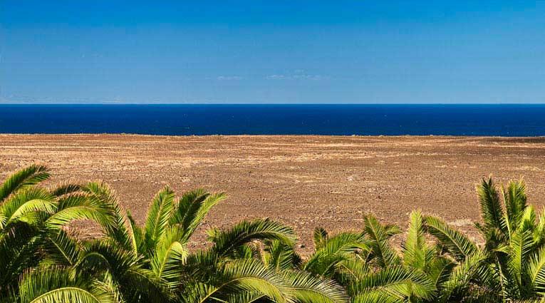 Vista de la playa de Fuerteventura