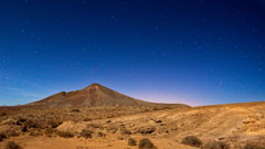 Vista nocturna del desierto
