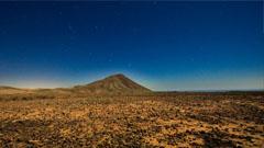 Paisaje marciano en la isla de fuerteventura
