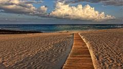 Acceso a la playa de fuerteventura