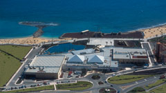 Vista aérea centro comercial atlántico fuerteventura