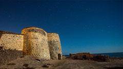 Castillo en el desierto de Fuerteventura