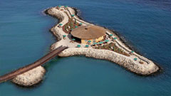 Vista aérea de la isla del Chiringuito