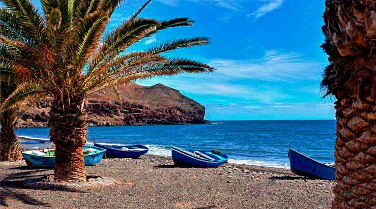 Vista de una playa de Fuerteventura