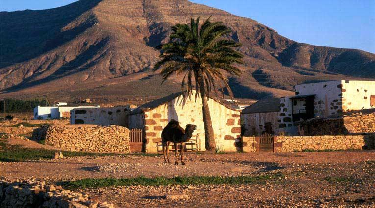 Casa típica en el desierto de Fuerteventura