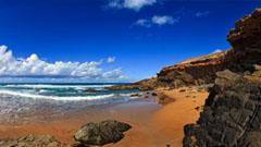 Cala en una playa de Fuerteventura
