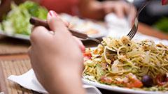 Plato de pasta servido Resturante Italiano Arrecife