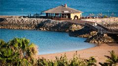 Vista del Chiringuito la isla desde el hotel