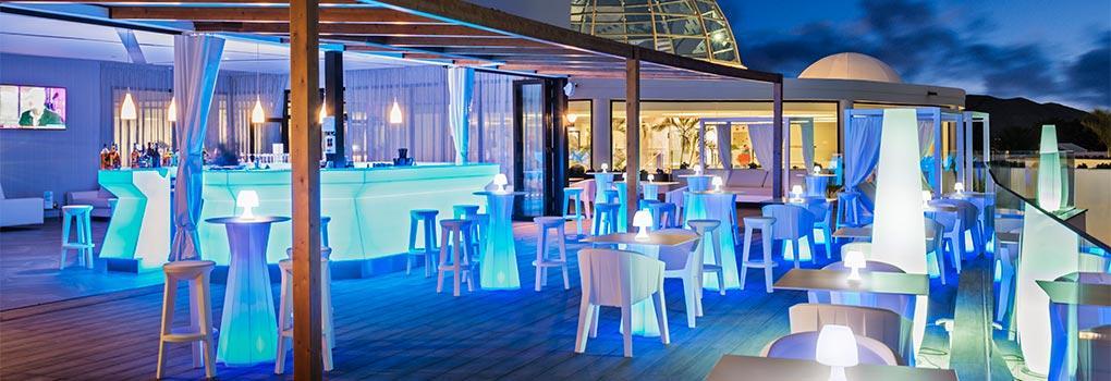 Vista atardecer terraza Bar Mirador