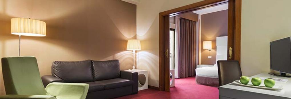 Salón habitación Hotel Elba Madrid Alcalá