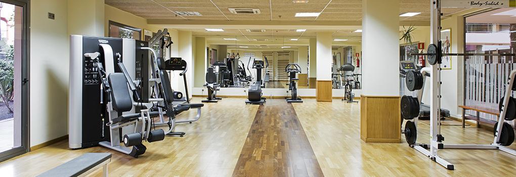 Fitnesscenter des Hotels Elba Carlota, um fit zu halten