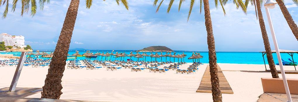 Vista de la playa de Palmanova