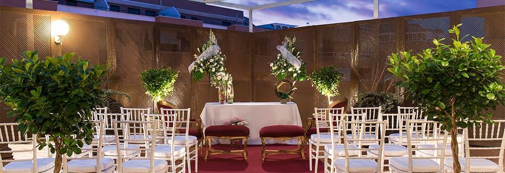 Terraza para celebración de Bodas - Hotel Elba Almería