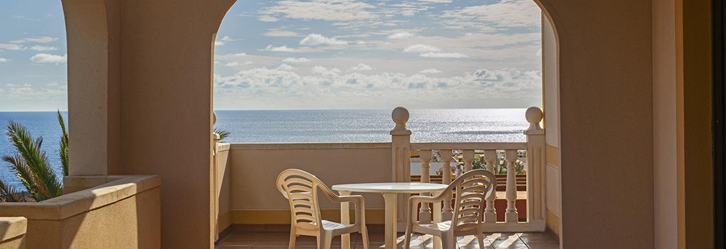 Visto océano Atlántico desde terraza
