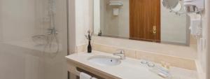 Vista parcial baño habitación doble Familiar