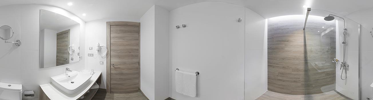 Vista 360 cuarto de baño Elba Lanzarote